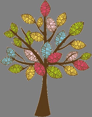 Наклейка «Разноцветная листва»