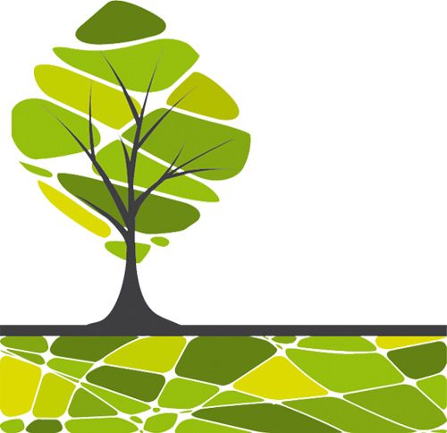 Наклейка «Дерево на полянке»
