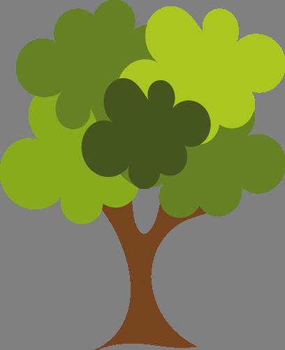 Наклейка «Листья-облака»