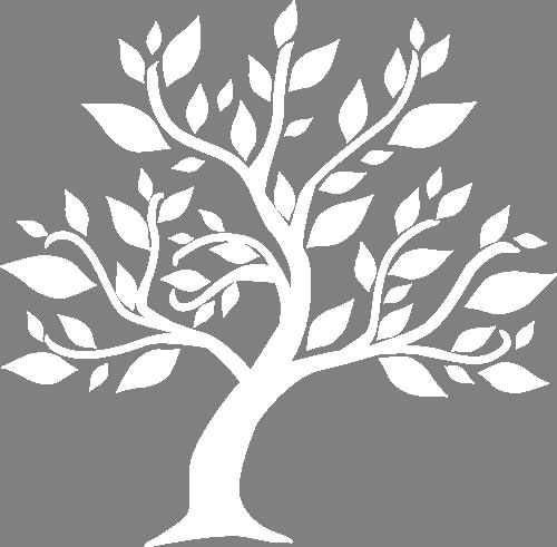 Наклейка «Белое дерево»