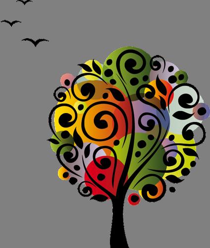 Наклейка «Дерево и птицы»Деревья<br>Цветная интерьерная наклейка на виниле. Яркая и красивая! Можно сделать любой размер. Трехслойная надежная упаковка. Доставим в любую точку России.<br>