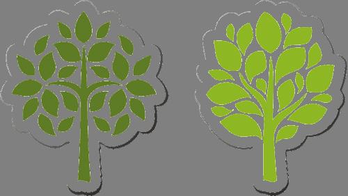 Наклейка «Тёмное и светлое деревья»Деревья<br><br>