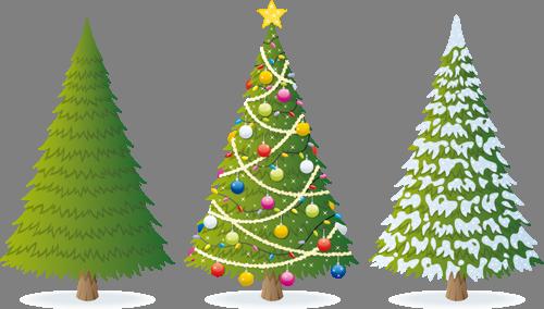 Наклейка «Три новогодних ёлочки»