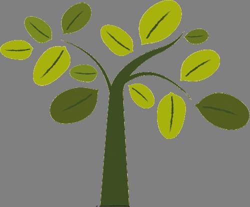 Наклейка «Поникшее дерево»