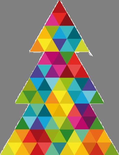 Наклейка «Ёлочка из треугольников»