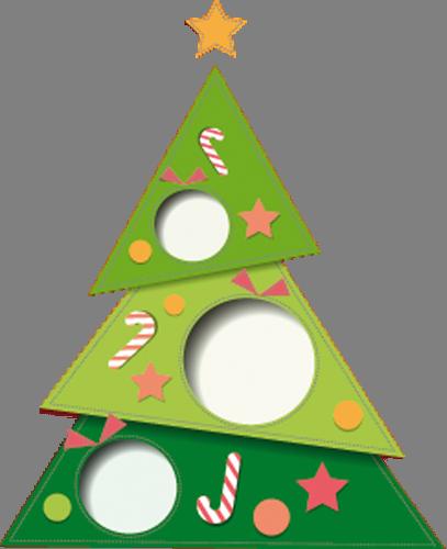 Наклейка «Ёлочка с конфетами»Деревья<br><br>