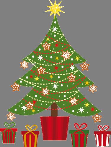 Наклейка «Ёлочка и подарки»