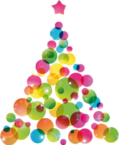 Наклейка «Ёлочка из шариков»Деревья<br><br>