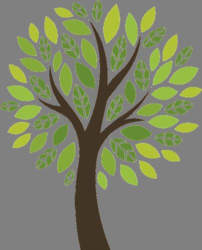 Наклейка «Молодое дерево»