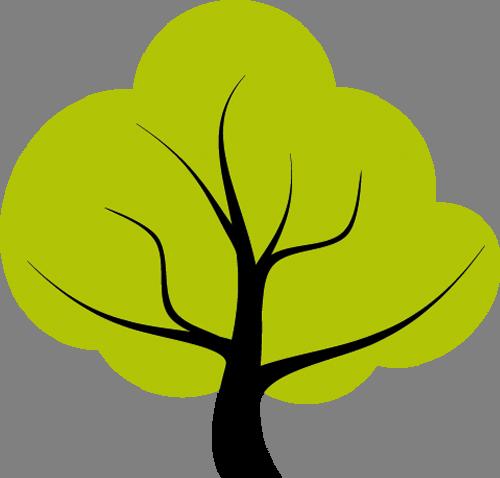 Наклейка «Салатовое дерево»Деревья<br><br>