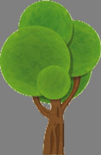 Наклейка «Зелёное дерево»Деревья<br><br>