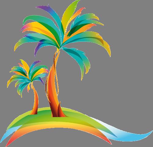 Наклейка «Две пальмы»Деревья<br><br>