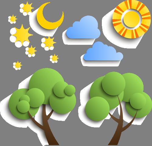 Наклейка «Пейзаж»Деревья<br><br>