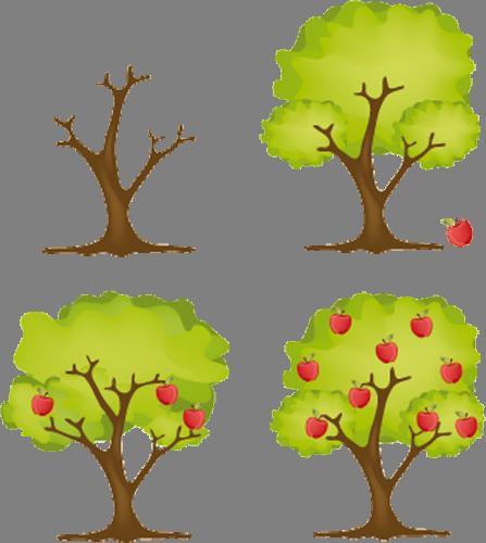 Наклейка «Времена года»Деревья<br><br>