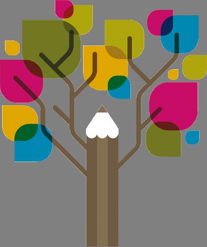 Наклейка «Дерево с цветными листьями»
