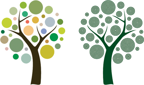 Наклейка «Два дерева»