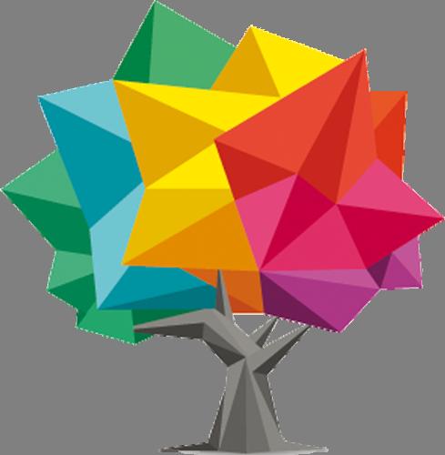 Наклейка «Дерево с кристаллами»