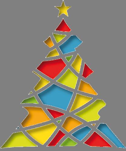 Наклейка «Цветная ёлочка»Деревья<br><br>