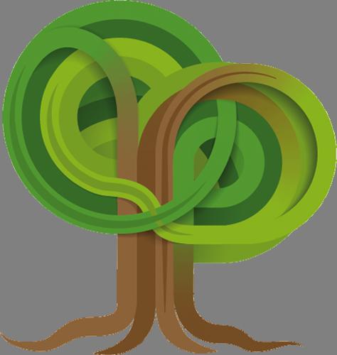 Наклейка «Спутанные деревья»Деревья<br><br>