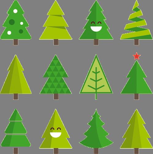 Наклейка «Двенадцать ёлочек»Деревья<br><br>
