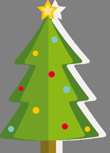 Наклейка «Новогодняя ёлочка»