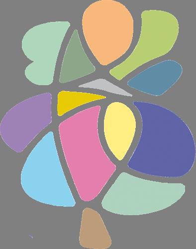 Наклейка «Дерево в цветной абстракции»