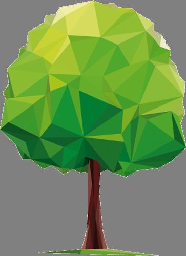 Наклейка «Лиственное дерево»