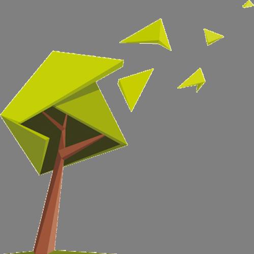 Наклейка «Порыв ветра»Деревья<br><br>