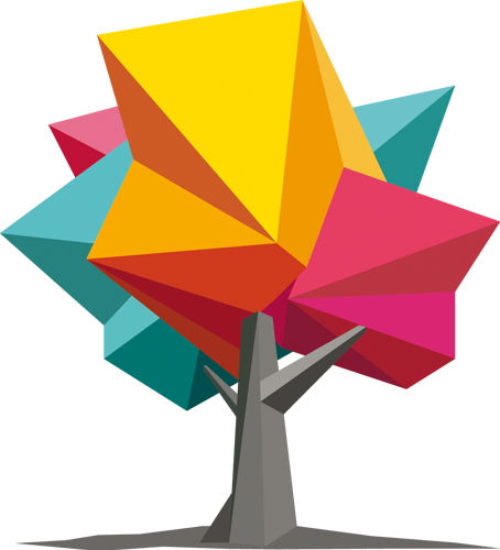 Наклейка «Радужное дерево»