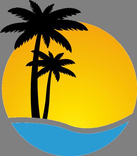 Наклейка «Пальмы на пляже»Деревья<br><br>