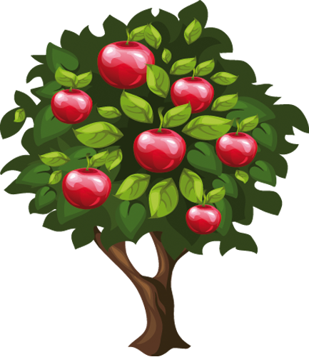 Наклейка «Яблоня»Деревья<br>Цветная интерьерная наклейка на виниле. Яркая и красивая! Можно сделать любой размер. Трехслойная надежная упаковка. Доставим в любую точку России.<br>