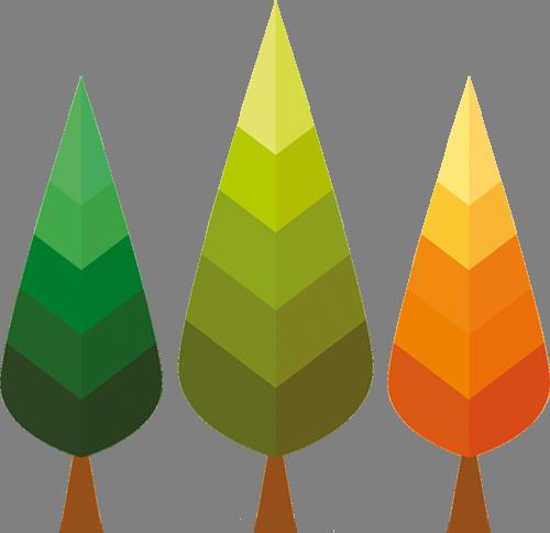 Наклейка «Три дерева»