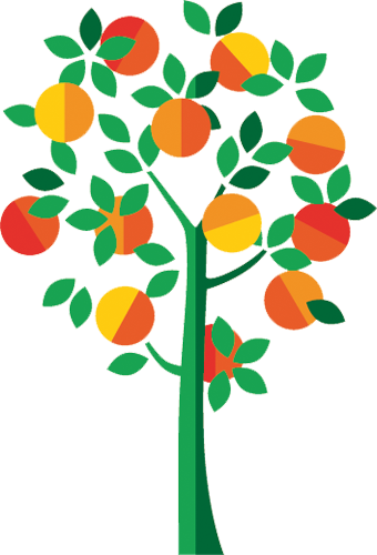 Наклейка «Яблочное дерево»Деревья<br>Цветная интерьерная наклейка на виниле. Яркая и красивая! Можно сделать любой размер. Трехслойная надежная упаковка. Доставим в любую точку России.<br>