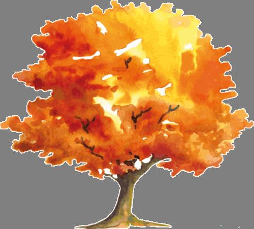 Наклейка «Осеннее дерево»Деревья<br>Цветная интерьерная наклейка на виниле. Яркая и красивая! Можно сделать любой размер. Трехслойная надежная упаковка. Доставим в любую точку России.<br>