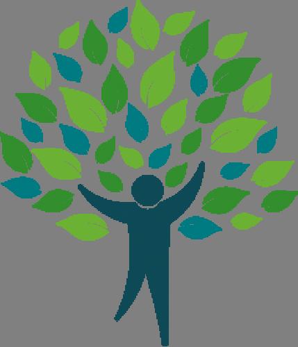 Наклейка «Человек в листьях»