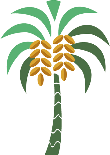 Наклейка «Пальма с плодами»Деревья<br><br>