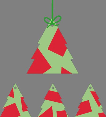Наклейка «Четыре ёлочки»Деревья<br><br>
