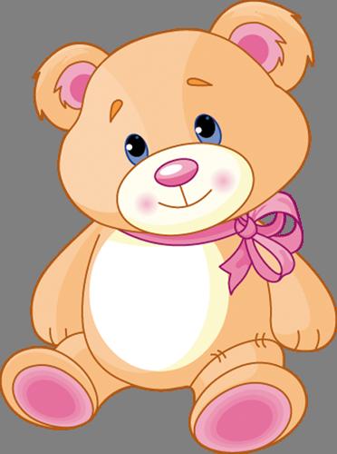 Наклейка «Задумчивый мишка»Детские<br><br>