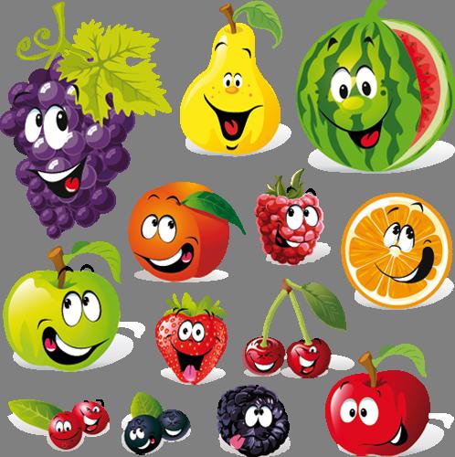 Наклейка «Весёлые фрукты»Детские<br><br>