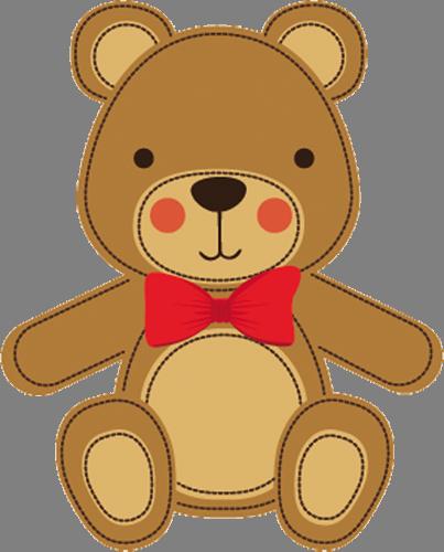 Наклейка «Игрушечный мишка»Детские<br>Цветная интерьерная наклейка на виниле. Яркая и красивая! Можно сделать любой размер. Трехслойная надежная упаковка. Доставим в любую точку России.<br>
