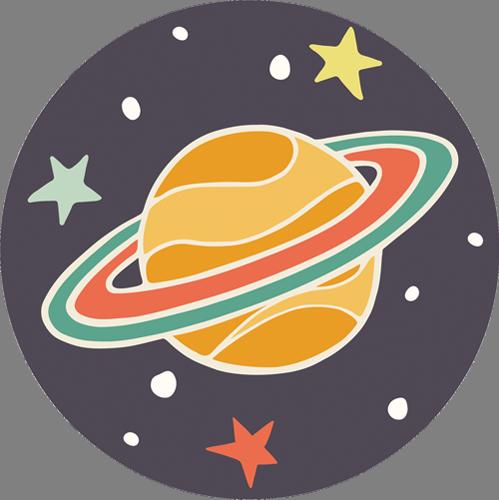 Наклейка «Сатурн»Детские<br>Цветная интерьерная наклейка на виниле. Яркая и красивая! Можно сделать любой размер. Трехслойная надежная упаковка. Доставим в любую точку России.<br>