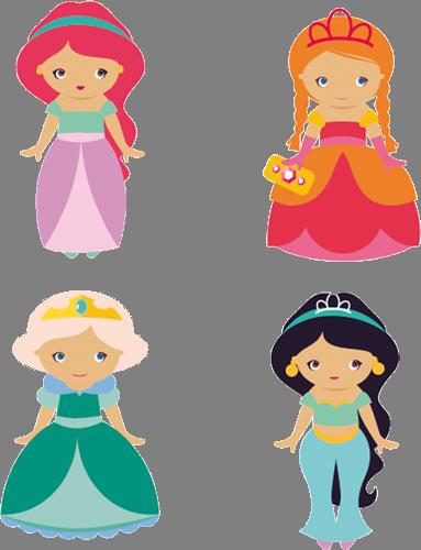 Наклейка «Принцессы Диснея»Детские<br><br>