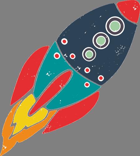 Наклейка «Ракета»Детские<br><br>