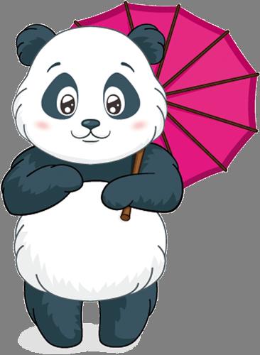 Наклейка «Панда с зонтиком»Детские<br><br>