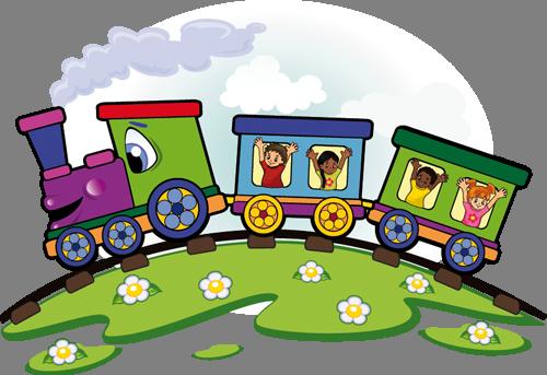 Наклейка «Весёлый паровозик»Детские<br><br>