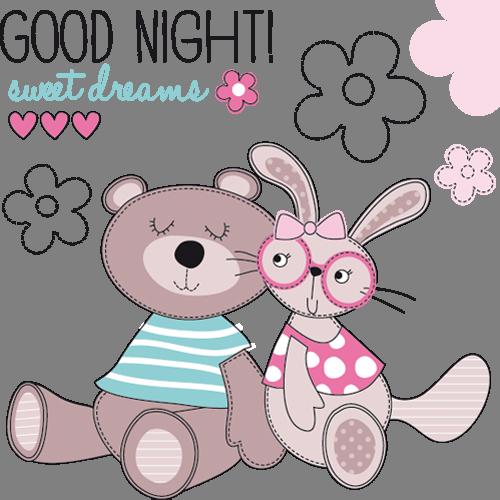 Наклейка «Мишка и зайка»Детские<br><br>