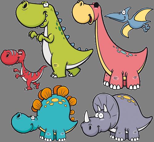 Наклейка «Динозаврики»Детские<br>Цветная интерьерная наклейка на виниле. Яркая и красивая! Можно сделать любой размер. Трехслойная надежная упаковка. Доставим в любую точку России.<br>