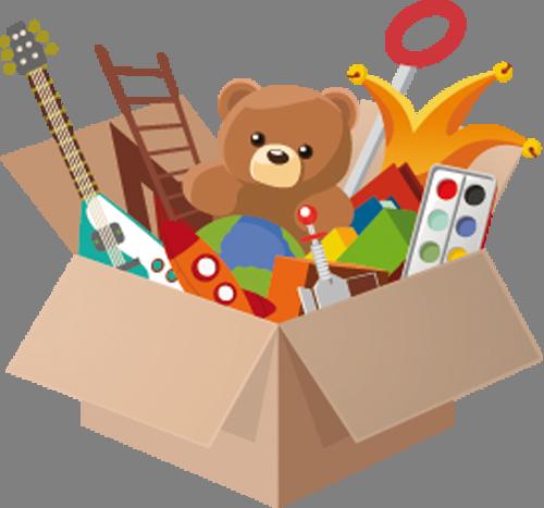 Наклейка «Ящик с игрушками»Детские<br>Цветная интерьерная наклейка на виниле. Яркая и красивая! Можно сделать любой размер. Трехслойная надежная упаковка. Доставим в любую точку России.<br>