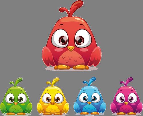 Наклейка «Angry birds»Детские<br><br>