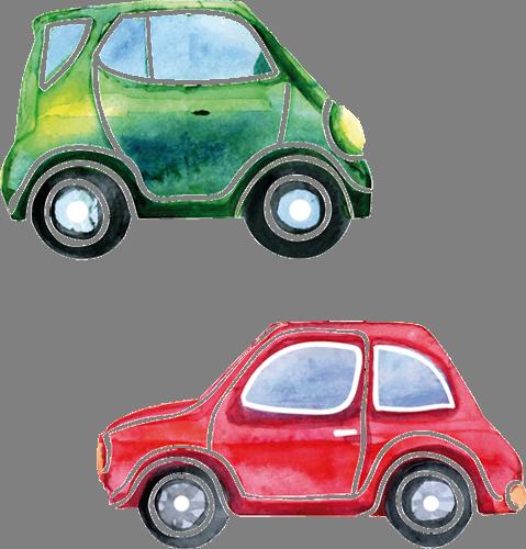 Наклейка «Две машинки»Детские<br>Цветная интерьерная наклейка на виниле. Яркая и красивая! Можно сделать любой размер. Трехслойная надежная упаковка. Доставим в любую точку России.<br>